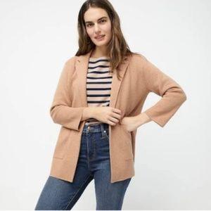J Crew Sophie Camel Merino Wool Sweater Blazer XXS